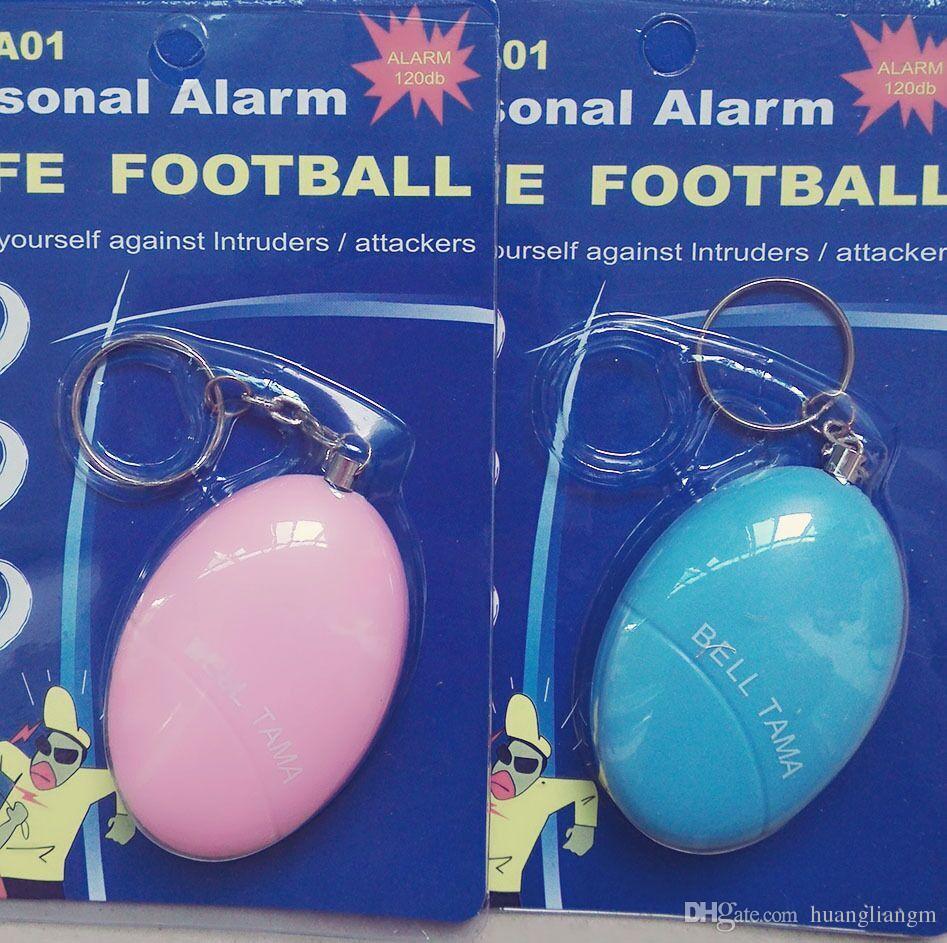 Nuovi allarmi personali Bell Tama forte sicuro stabile 120 decibel mini portatile portachiavi allarme sicuro calcio panico anti stupro attacco autodifesa