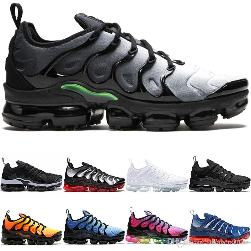 2a1587380766 TN PLUS Men Women Designer Running Shoes BE TRUE Yellow Triple Black ...