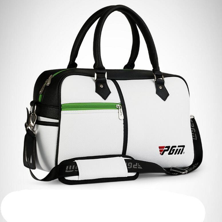 En Kaliteli Golf Giyim Çanta Su Geçirmez PU Deri Ayakkabı Için Yüksek Kapasiteli Dayanıklı Golf Çantası Çanta Ücretsiz Kargo