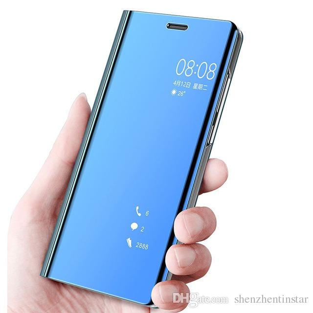 check out afbde 433e0 Flip Mirror View Case For Vivo Y81 Y83 Y69 Y67 Y75 Y71 Y79 Leather Stand  Flip Cover Vivo V7 X20 Plus X21 X23