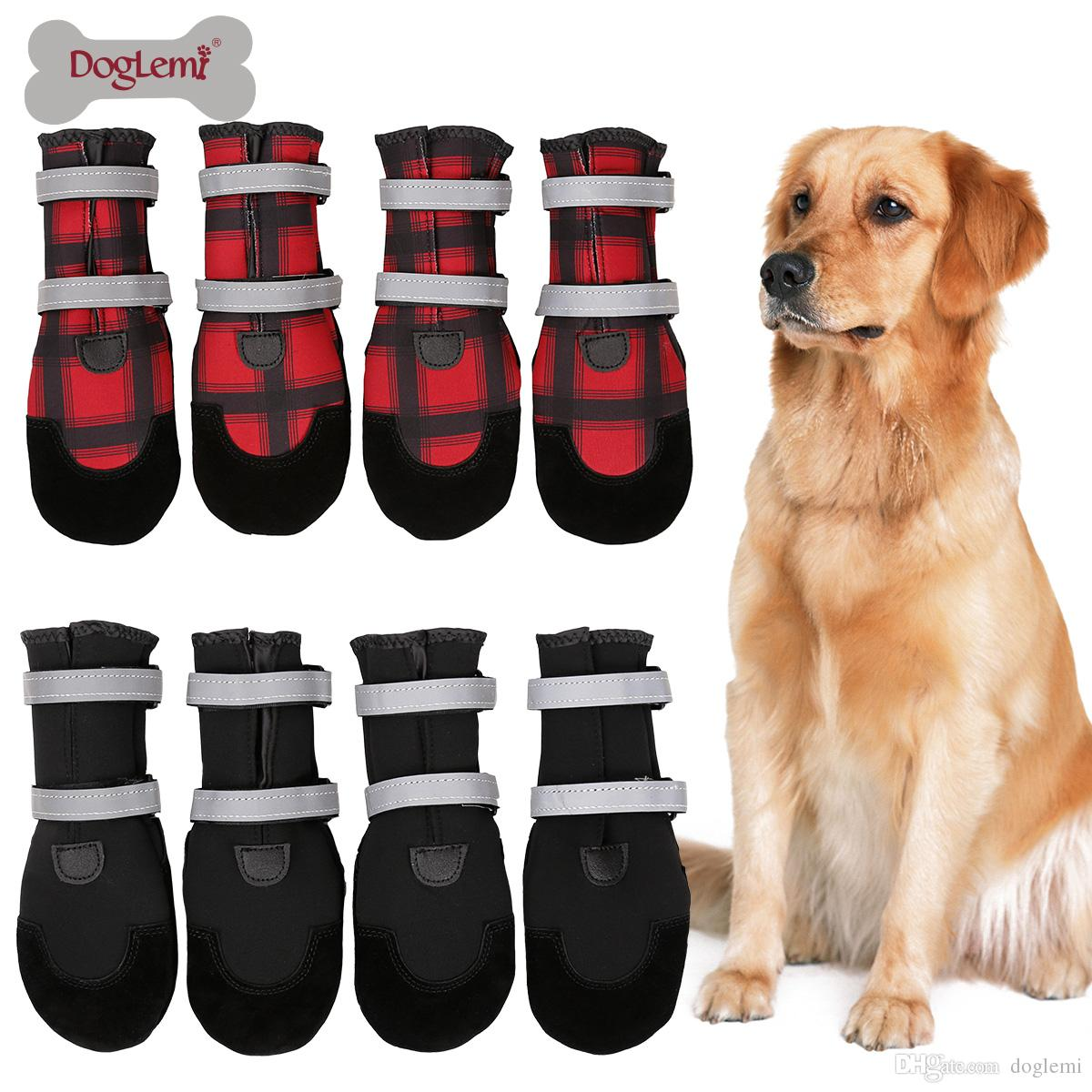 2f994397ae0 Free Shipping!Winter Dog Boots Pet Shoes Soft Warm Water Resistant Dog Paw  Protectors