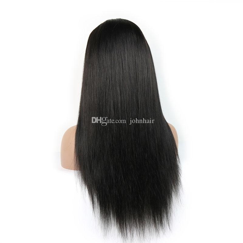 Işlenmemiş Bakire Tam Dantel Peruk İnsan Saç Bebek Saç Ile 9A Ağartılmış Knot Dantel Ön At Kuyruğu Peruk Kadınlar Için Braziian Bakire Saç Peruk