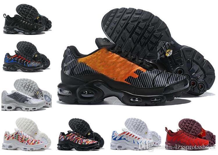 8abb0b5e1c1 Hight Quality TN Running Shoes New Sports Men Black White Red Mens ...