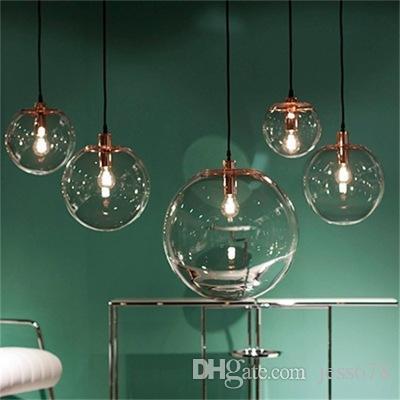 Fantastisk Großhandel Nordic Pendelleuchten Globus Lampe Glaskugel Anhänger ZH75