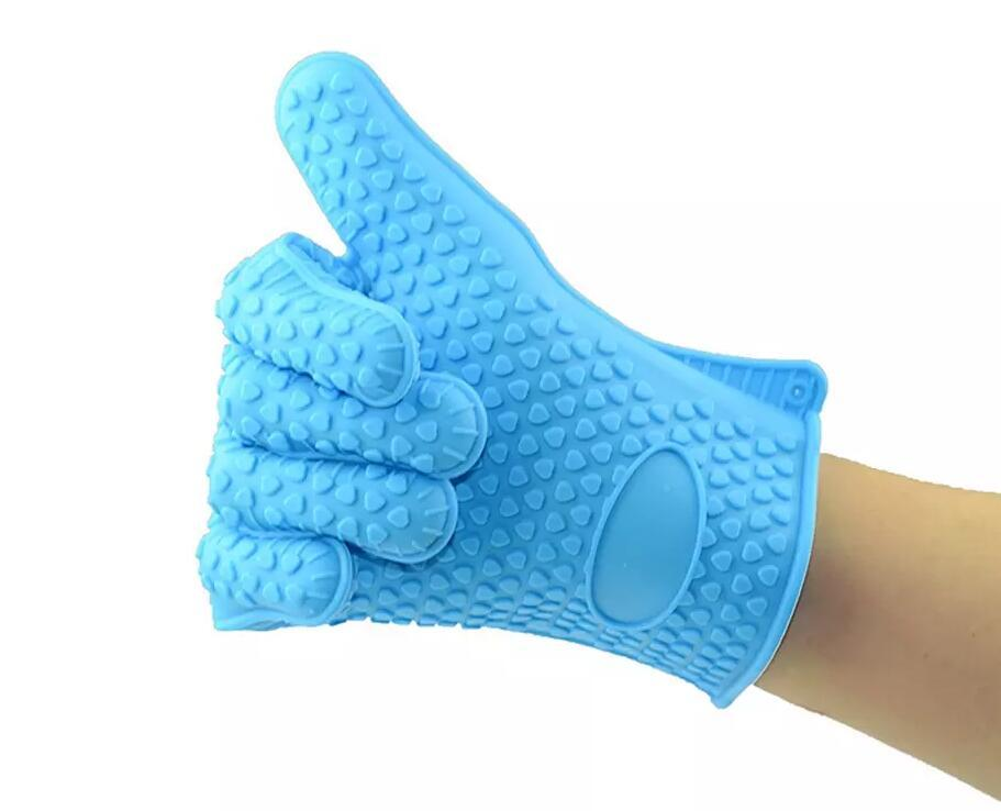 Barbecue Silicone Heat Holder Gloves Kitchen Oven Mitts Cook Microwave Resistant Gloves Pot Holder Kitchen Tools