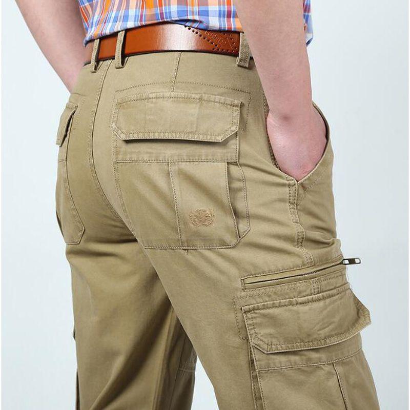 Acheter ZHEN DI JI PU Hommes Cargo Pantalon Nouveau Designer Solide  Pantalon Straight Multi Poches Cargo Pantalon Pantalon Homme Pas De Ceinture  De  58.05 ... 6dde57893af