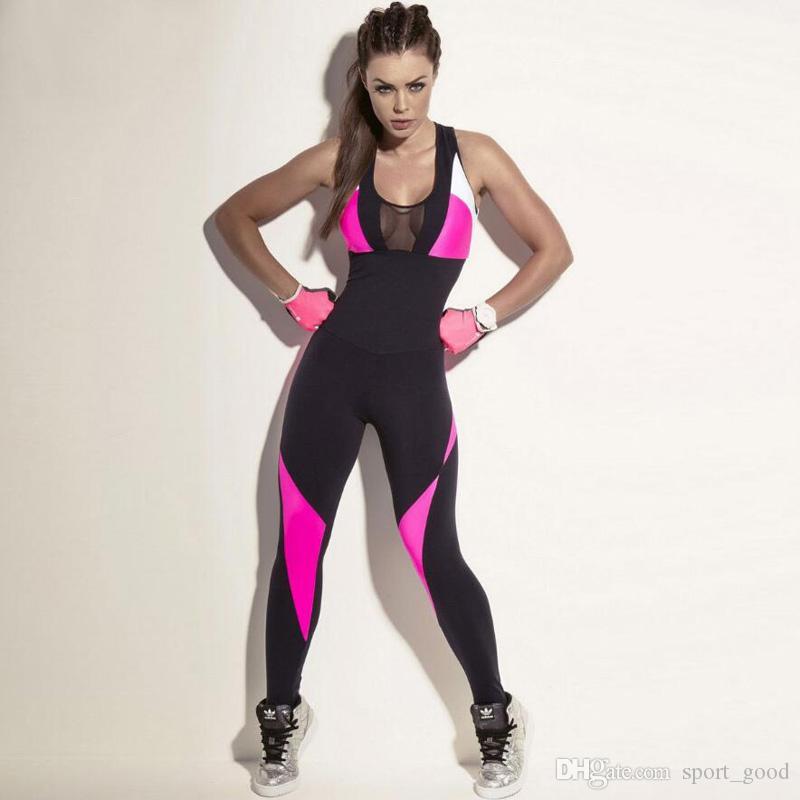 7fd37290b6ca6 Satın Al Kadın Spor Yoga Seti Gym Spor Koşu Tulumları Koşu Dans Eşofman  Nefes Hızlı Kuru Spor Giyim Takım Elbise Tulum, $16.34   DHgate.Com'da