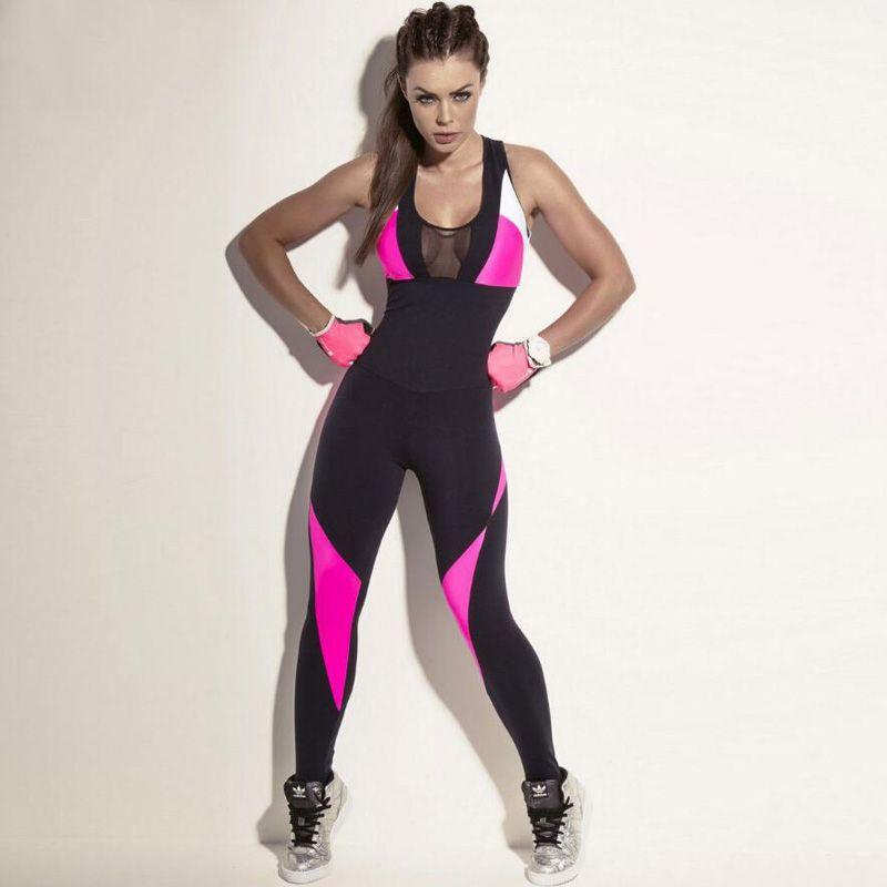 Compre Mujeres Fitness Yoga Set Gimnasio Deportes Corriendo Monos Jogging  Baile Chándal Transpirable Ropa Deportiva De Secado Rápido Ropa Traje  Mamelucos A ... f499dde7390e