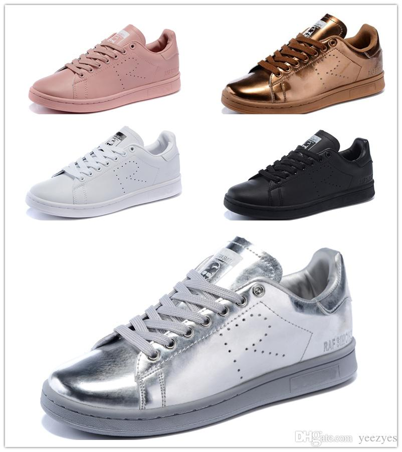 wholesale dealer fd4a2 40840 2016 Raf Simons Stan Smith Spring Copper White Pink Black Fashion Shoe Man  Casual Leather Brand Woman Man Shoes Flats Sneakers Dress Shoes For Men  Suede ...