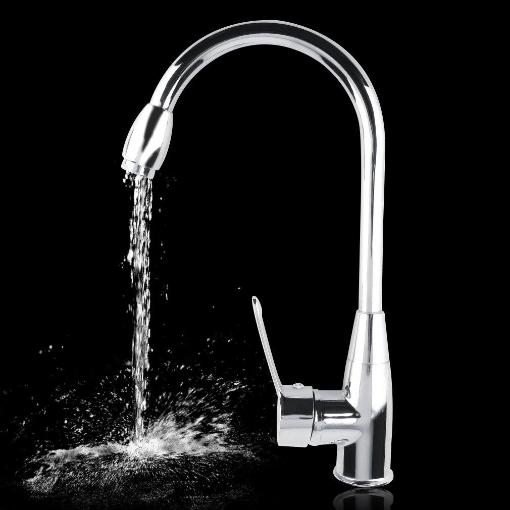 Alloy Chromed Hot/Cold Mixer Water Tap Basin Kitchen Bathroom Wash ...