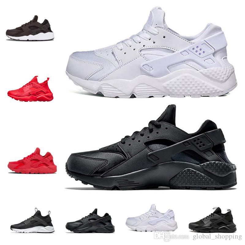 a76693cdbd29 2018 New Huarache IV 4.0 Ultra Running Shoes Huraches Trainers For Men  Women Multicolor Shoes Triple Huaraches Sneakers Shoes Shop Free Shoes From  ...