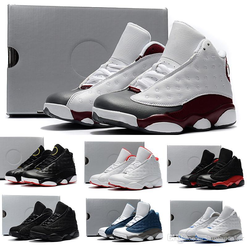 best service 609ca 99f13 Acheter Nike Air Jordan 13 Retro En Ligne 13 Enfants Basketball Chaussures  Enfants 13s Haute Qualité Chaussures De Sport Jeunesse Garçon Fille Basket  Ball ...