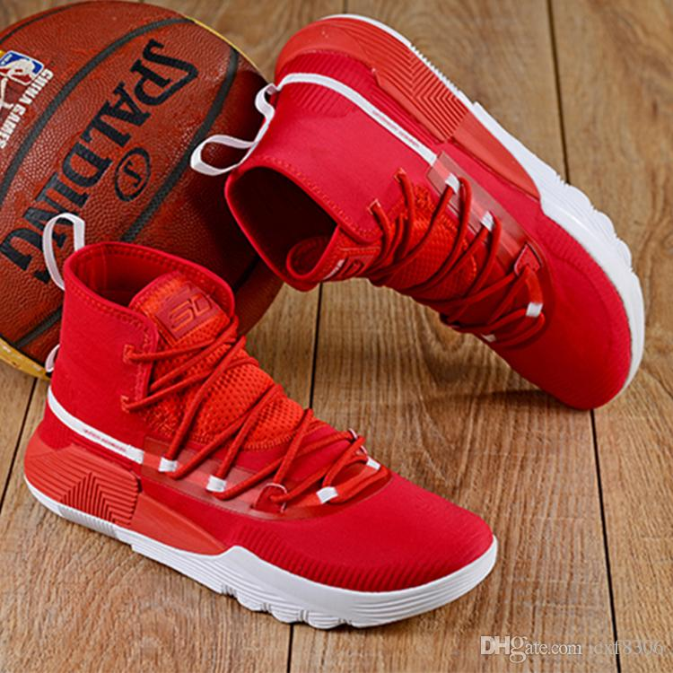 7c249267551 2018 NEW Designer Shoes Stephen Curry 3 Zero 2 Basketball Shoes UA Mens  Shoes MVP Finals Trainers Men Sport Athletic Sneakers US Size 40 46 Sports  Shoes For ...