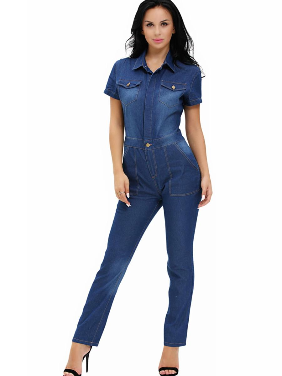 Women Ripped Denim Jumpsuits Casual Sexy Stretch Romper Ladies'Denim Pencil Overalls Stretch bodysuit long sleeve 11.11