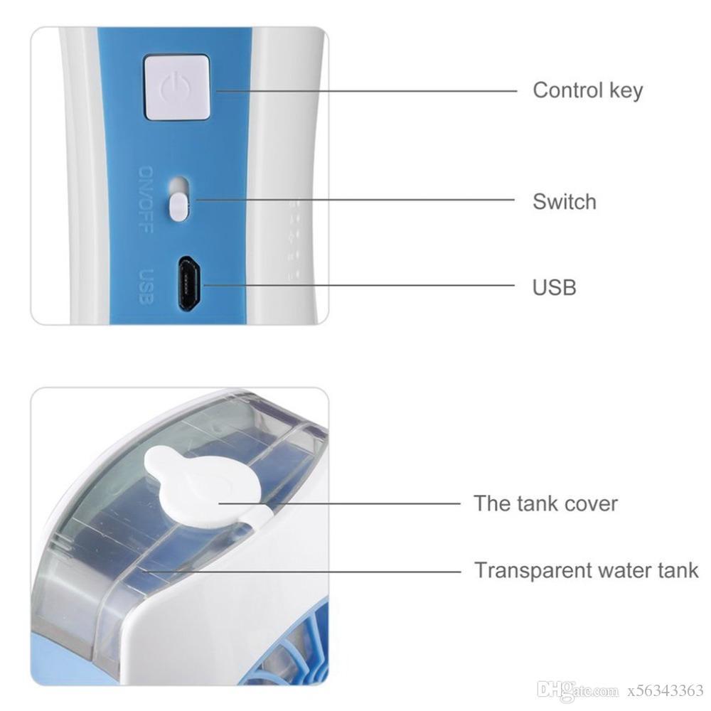 Mini-USB-Handventilator Portable USB-wieder aufladbarer Spray-Luftbefeuchter-Mini-Sprühkühlluft-Tischventilator für im Freien