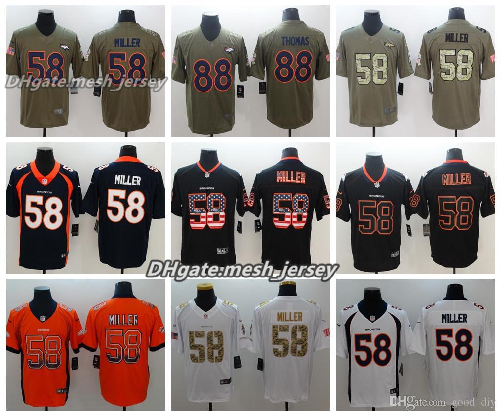 Hot Sale Men Denver Jersey Broncos 58 Von Miller 88 Demaryius Thomas ... bc0544925