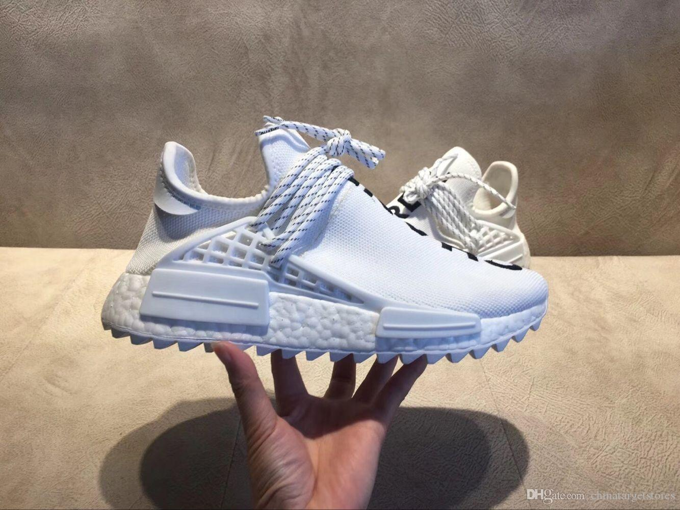 0f4c046801747 2018 New With Box Mens And Womens Pharrell PW Human Race NMD TR Clouds Moon  You Nerd Rainbow Running Shoes Size US5.5 11 Woman Running Shoes Mens  Running ...