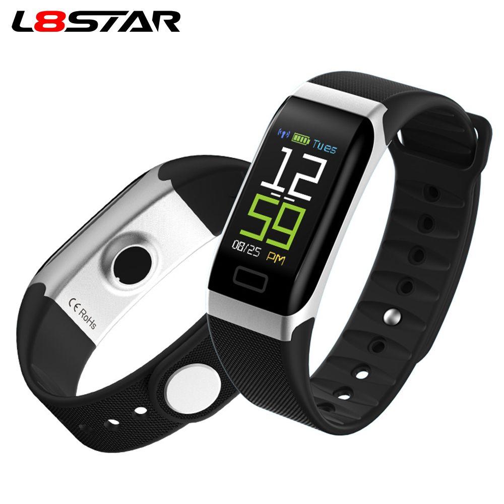 L8STAR R7 USB Charging Smart Band Heart Rate Fitness Tracker IP68  Waterproof Smart Bracelet Blood Pressure Wristband
