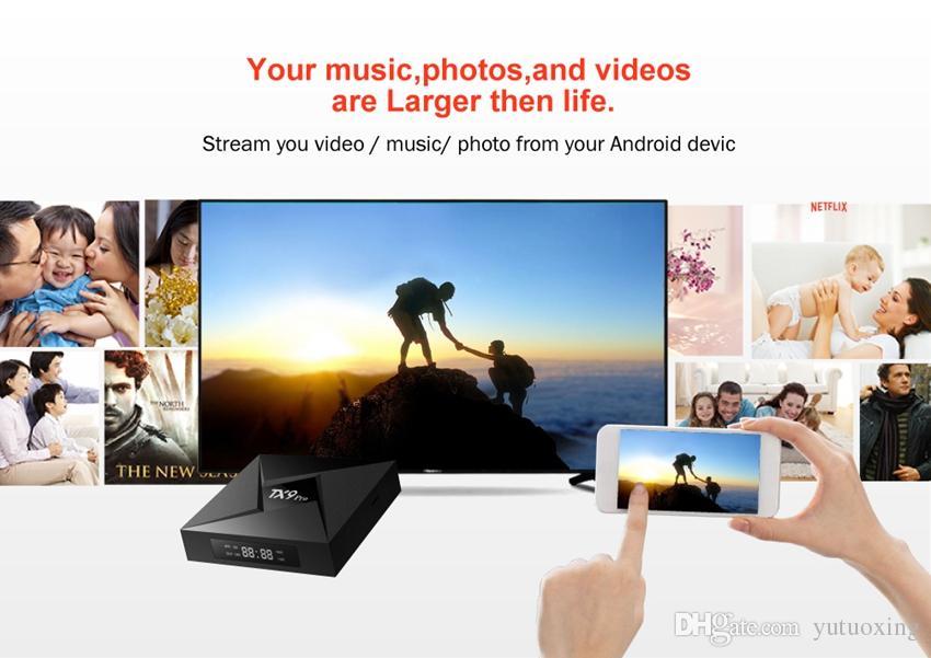 TX9 Android Tv Box Amlogic S912 Octa Çekirdek 3 GB 32GB Android 7.1 2.4G 5G Çift WIFI BT 4.1 Akıllı Tv Box PRO