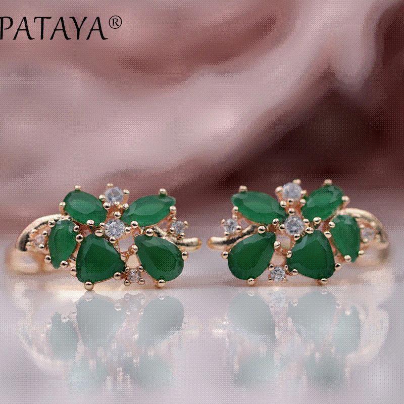 31e7e57266df Compre PATAYA Multi Colored Natural Cubic Zirconia Pendientes Largos 585  Rose Gold RU Diseño Exclusivo Hot Jewelry Mujeres Pendientes De Lujo A   10.79 Del ...