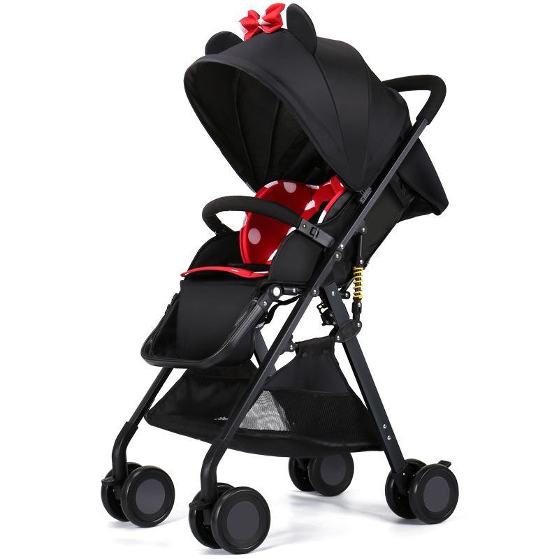 8ba0d8c9e Compre Carrinho De Bebê De Alta Paisagem Pode Sentar Se, Deite Se, Dobrar  Ultra Leve, Carrinho De Bebê Carrinho De Carro De Guarda Chuva De Bolso  Portátil.