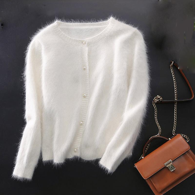 huge discount 225c3 33abb maglione di cachemire visone donne cardigan in cashmere lavorato a maglia  in puro visone cappotto shippingM1113 S118
