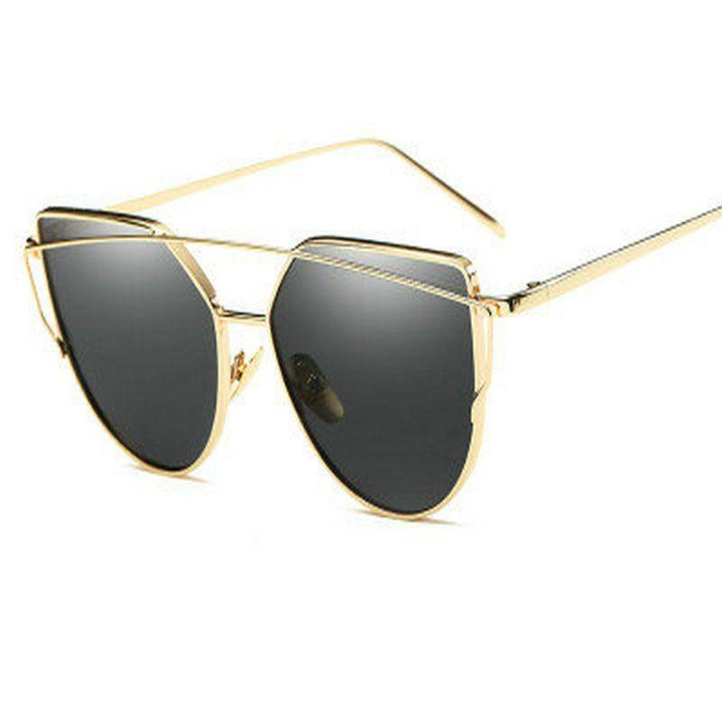 f659a7808b Hot Sale Mirror Flat Lense Women Cat Eye Sunglasses Classic Brand Designer  Twin Beams Rose Gold Frame Sun Glasses For Women M195 Baby Sunglasses  Designer ...