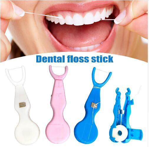a7ec04db4 Compre 30 M De Nylon Fio Dental Com Suporte Tooth Escova De Limpeza  Ferramenta De Dentes Oral Care Cleaner Higiene Oral Profissional Flosser  Dental De ...