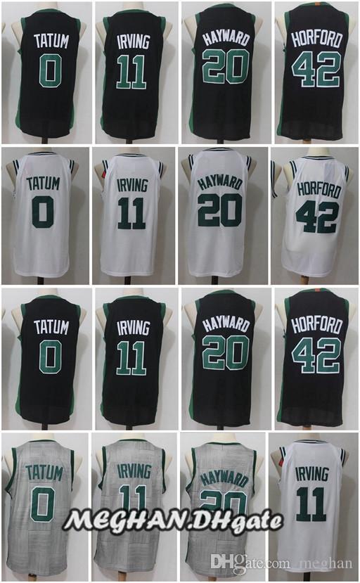 07e693304738 11 Kyrie Irving Basketball Jerseys 20 Gordon Hayward 0 Jayson Tatum 42 Al  Horford 2018 Boston New Season Basketball Shirts Stitched Jerseys Kawhi  Leonard ...