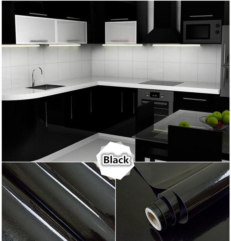 Pvc Self Adhesive Wallpaper Roll Pearlescent Paint Modern Kitchen Cupboard  Cabinet Furniture Renovation Wall Stickers Home Decor Wallpapers For Mobile  ...
