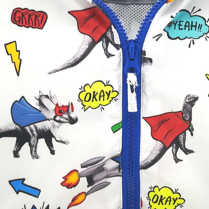 Abreeze 2017 Nuova Estate Autunno bambini abbigliamento stile dinosauro bambini capispalla cappotti casual 2-8Y giacche con cappuccio i ragazzi CQ10