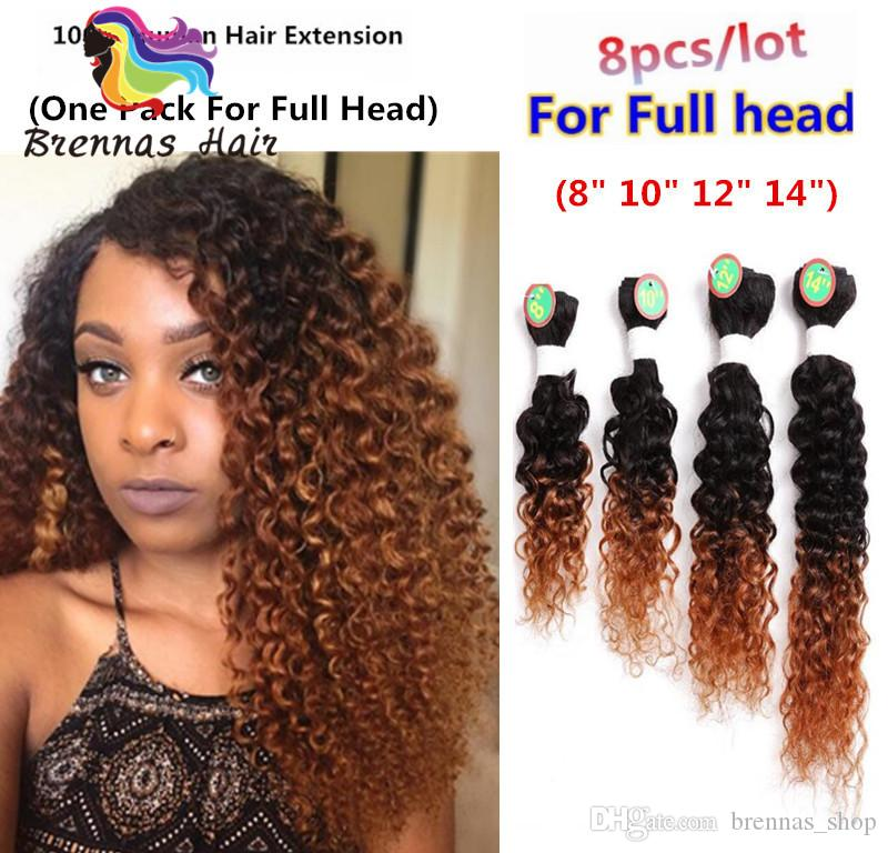 Brazilian Good Quality Hair Blended Hair Extension Kinky Curly