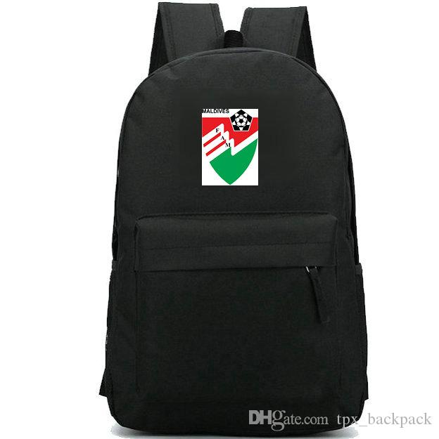 Maldives Backpack FAM National Day Pack MDV Foot Ball School Bag Football  Packsack Soccer Rucksack Sport Schoolbag Outdoor Daypack Army Backpack  Water ... eb3e74c6cd569