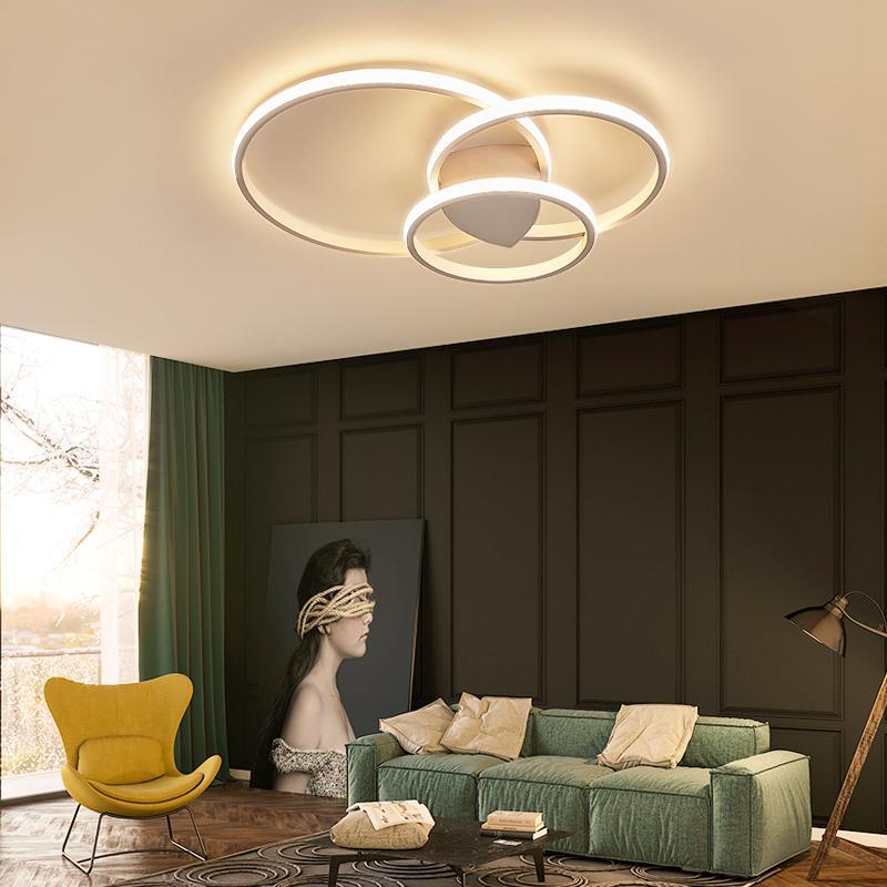 Moderne Acryl Decke Lichter Für Schlafzimmer Unterstützung 110 V Und 220 V Fernbedienung Led Oberfläche Montieren Lampen Warm Weiß Kühlen Weiß Deckenleuchten