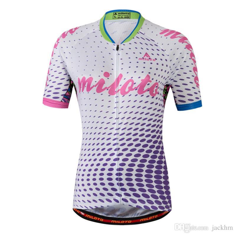 New Arrive Cycling Jersey Women Bike Top Shirt Summer Short Sleeve ... bd52554dc
