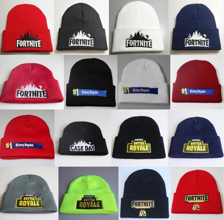 2019 Fortnite Hats 23 Styles Fortnite Beanies Fortnite Battle Knitted Hat  Hip Hop Embroidery Knitted Caps Teenager Winter Warm Skull Beanies172 3  From ... 8b8866aa346