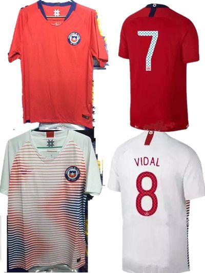 bac6150cb 2018 World Cup Chile Soccer Jersey 7 Alexis Sanchez A.VIDAL MORA ...
