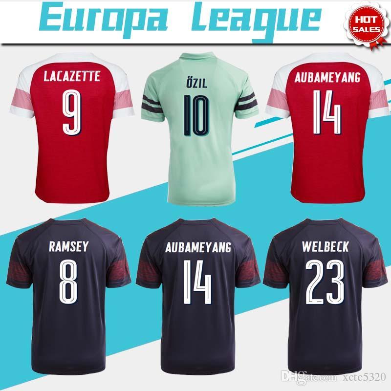 half off 66de1 2e78f get arsenal 14 aubameyang away soccer club jersey 3562c a60dd