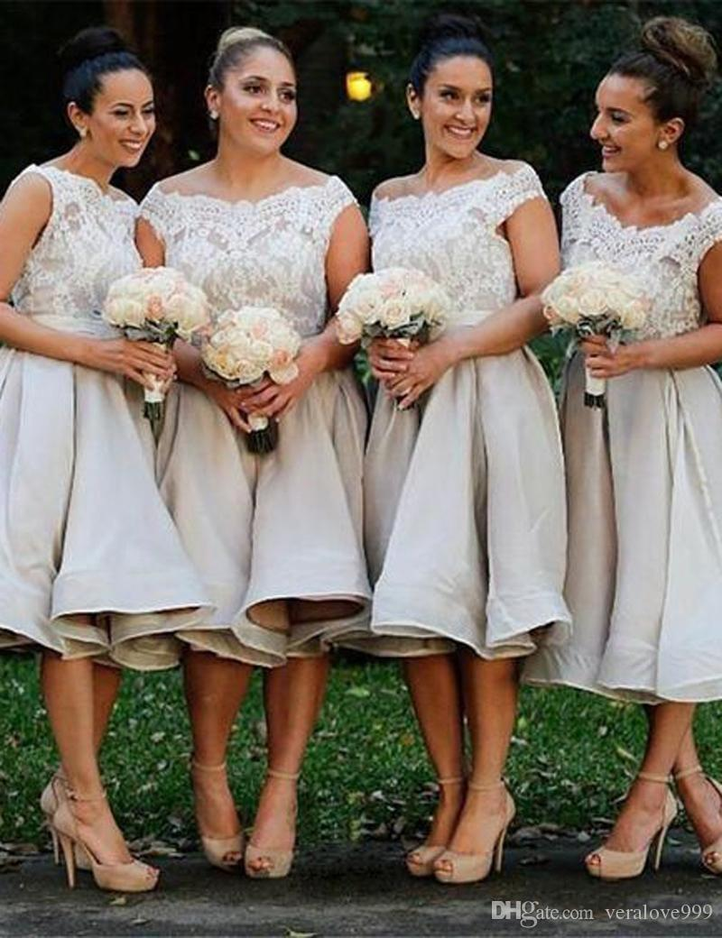 39d688ab7e Elegant Short Bridesmaid Dresses With High Quality Appliques Ladies Formal  Occasion Wear Dress For Wedding Custom Made Girls Prom Gown Sale Bridesmaid  ...