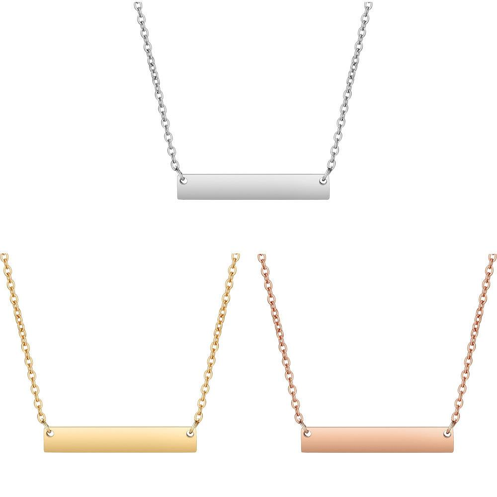 Stainless Steel Blank Bar Pendant Necklace Fashion Jewelry Chain Necklaces  Cheap Chain Necklaces 6pcs lot Stainless Steel Blank Bar Online with   55.24 Piece ... fb8b8f723