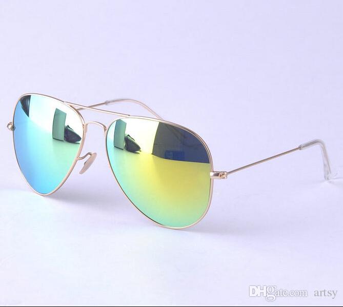 de043a2fcc2 AAA+ Quality Unisex Mirrored Sunglasses Men S Colored Mirror Sunglasses  Alloy Frame Glass Lens Women S Fashion Brand Designer Sun Glasses  Prescription ...