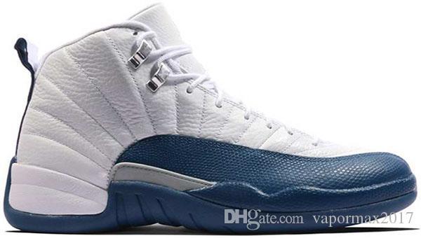 2018 gama azul 12 Bordeaux gama azul tênis de basquete homens esporte sapato branco preto nylon 12 s tênis formadores de tênis 41-47