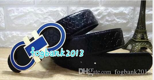 Big large buckle Fashion Mens women Business Belts Luxury Ceinture Automatic Buckle Genuine Leather Belts For Men Waist Belt with box