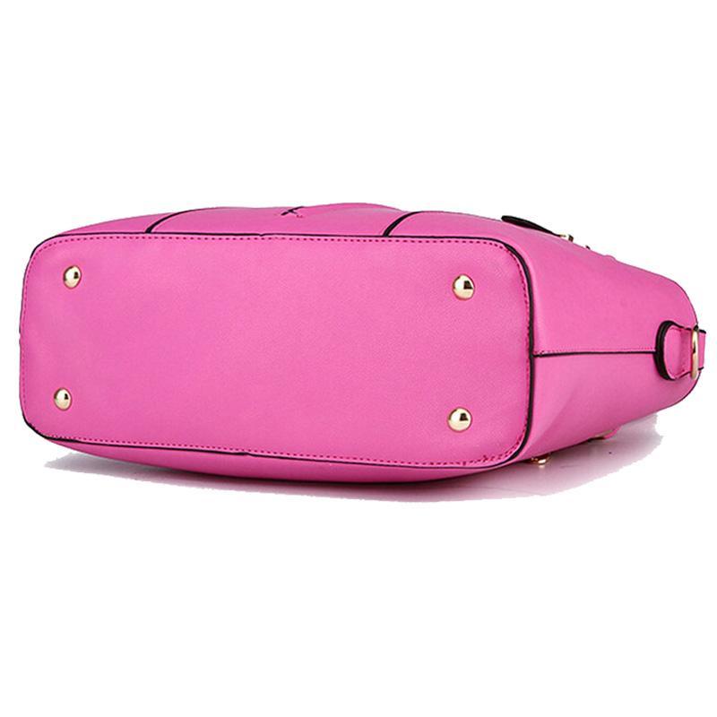 Micom Bolsos de hombro para mujer Bolsos de cuero de marca Bolsos de asa superior de asas casual femenino Vintage Lady Solid Zipper Messenger Bag