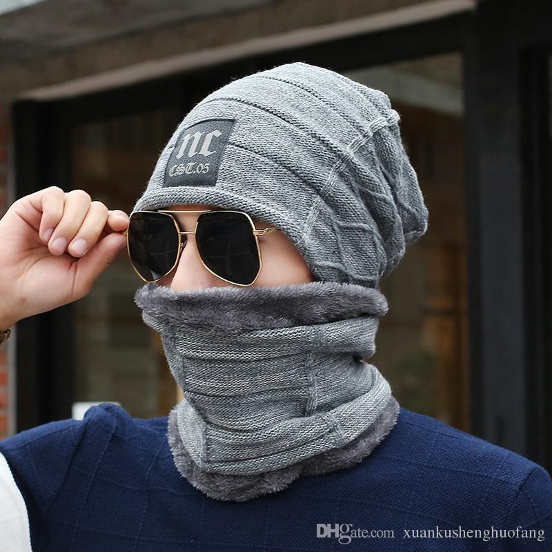 Großhandel New Halswärmer Winter Hat Schal Maske Gestrickte Hüte ...