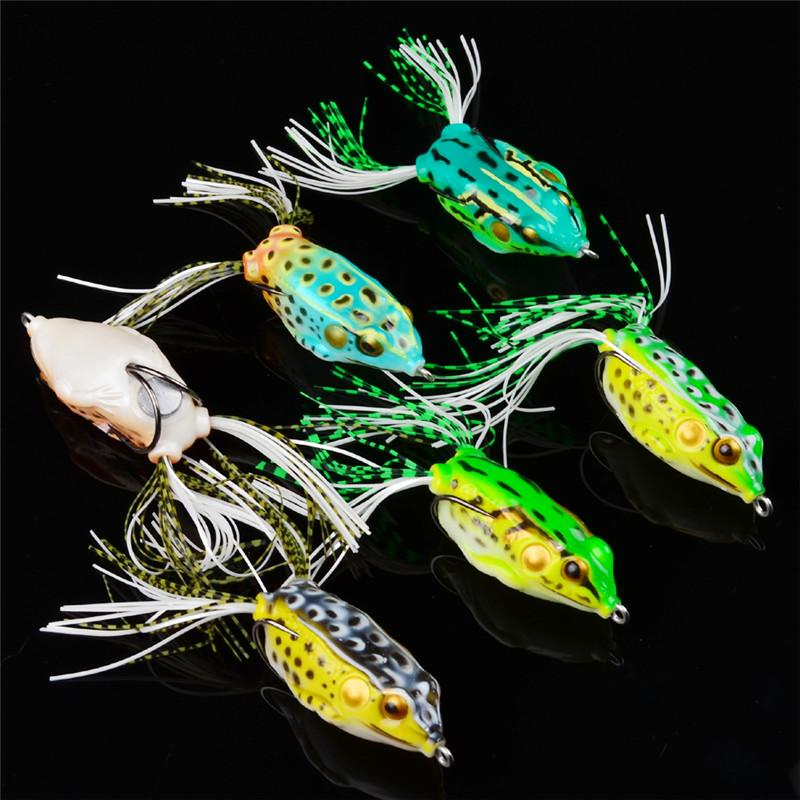 Floating Diving Fishing Artificial Snakehead Lure 13.7g 5.5cm Soft Ray frog shape Baits Freshwater Crankbaits Lure