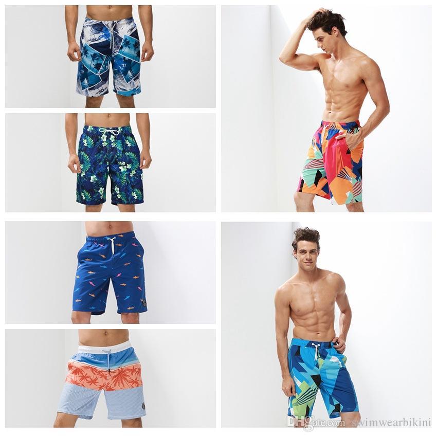Beach pants New Mens Shorts Surf Board Shorts Summer Sport Beach Homme  Bermuda Short Pants Quick Dry Silver Boardshorts men swimwear instock