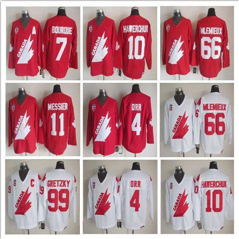 98fc81d073c 2019 1991 Hockey 66 Mario Mlemieux 99 Wayne Gretzky 11 Mark Messier 4 Bobby  Orr 7 Ray Bourque 10 Dale Hawerchuk Stitched Jerseys From Retro12
