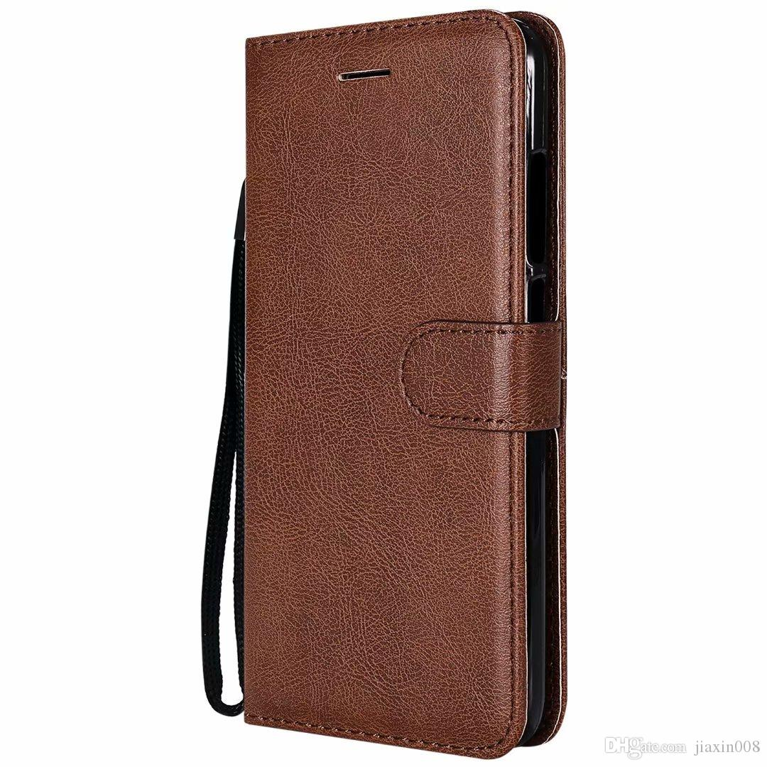 Wallet Case For Xiaomi Mi 5X Mi5X Flip back Cover Pure Color PU Leather Mobile Phone Bags Coque Fundas