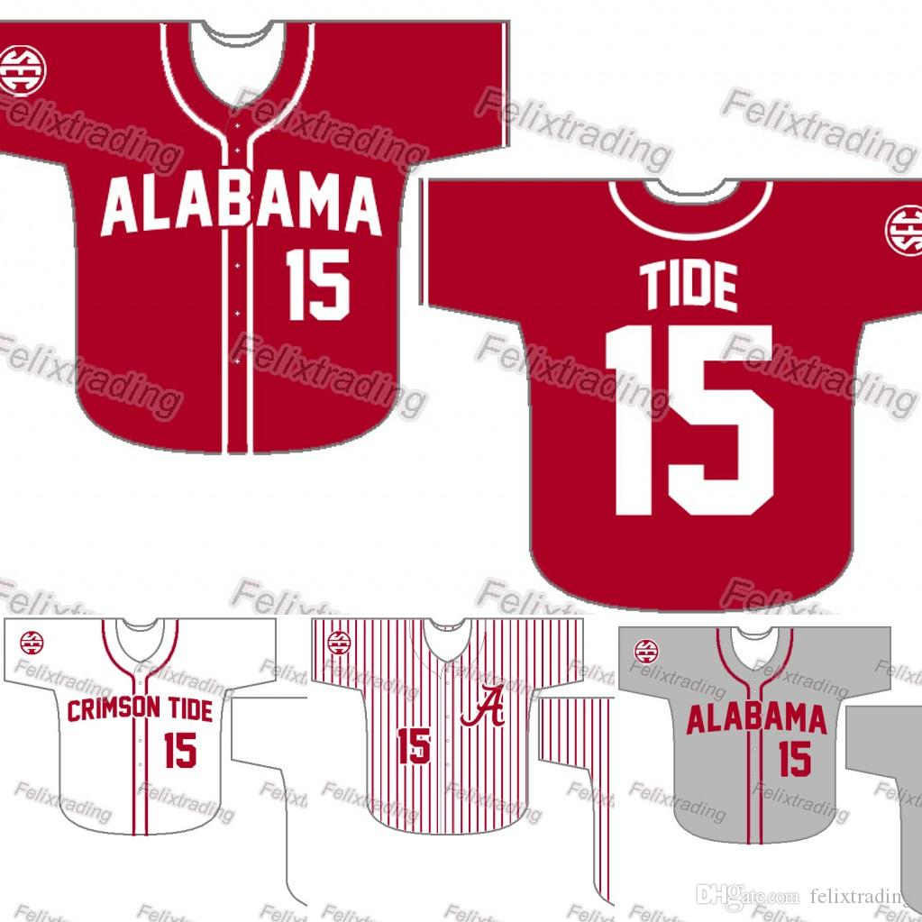 8678203d4c3 2019 Custom Alabama Crimson Tide Baseball Jersey Women Youth Men White All  Stitched Baseball Jerseys Fast From Felixtrading, $16.26 | DHgate.Com